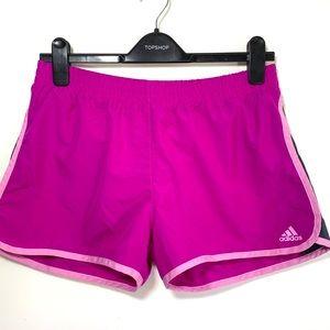 EUC pink and gray Adidas running shorts
